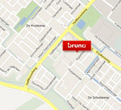 Kaart met de locatie van Bruna in Den Bosch